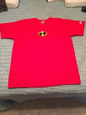 "Disney Pixar ""The Incredibles"" Fruit Of The Loom Size XL Movie Promo Shirt!!!"