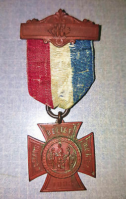 Vintage Grand Army Of The Republic Womens Relief Corps 1883 Medal