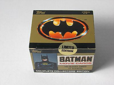 1989 Topps Batman Movie Cards Complete Collectors Edition 143 Cards 22 Stickers