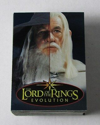 2006 Topps Lord Of The Rings Evolution Complete Base Set #1 To #72 Lotr