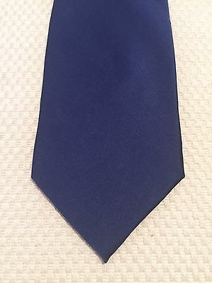 Vintage Tie - Wide, Blue, 100% Silk, Made In Italy