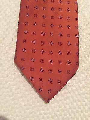 Vintage Tie - Wide, Orange Red, 100% Silk, Made In Italy