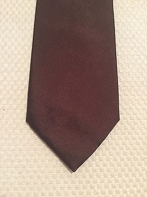 Vintage Tie - Belgium Label Matinique, Wide, Bronze, 100% Silk, Made In Italy