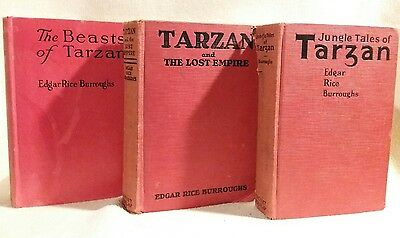 Tarzan 3 Book Set by Edgar Rice Burroughs Vintage Collection