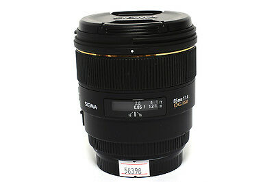 Sigma 85mm f/1.4 EX DG HSM Lens for Canon *For Parts or Repair*