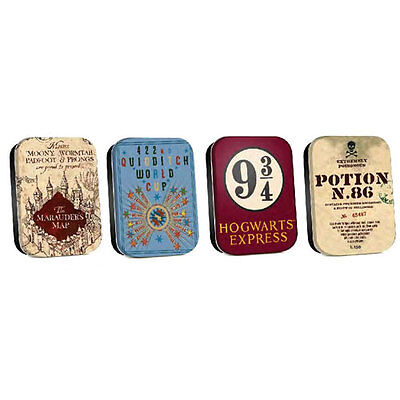 Harry Potter - Maps Set of 4 Tins NEW Half Moon Bay (small size)