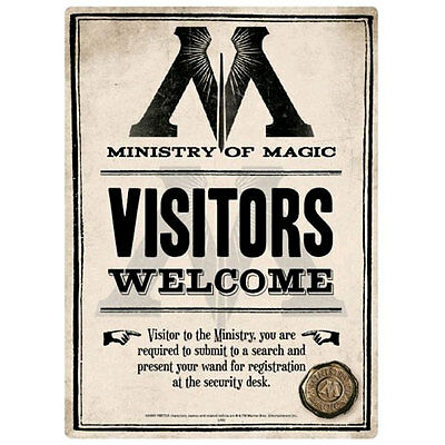 Harry Potter - Ministry of Magic A5 Tin Sign NEW Half Moon Bay