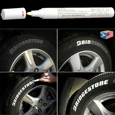 TIRE LETTER White PERMANENT PAINT PEN SIDE WALL RUBBER ACRYLIC OIL BASE MARKER!
