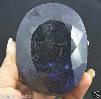 EGL Certified 2200Ct Oval Cut Natural Earth mined Blue Sapphire Gemstone Ebay**