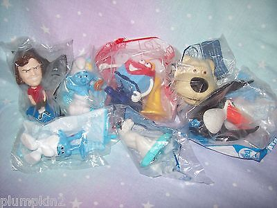 lot of  6  McDonalds Happy Meal toys - inc Smurfs 2, Rio, Ice Age 4