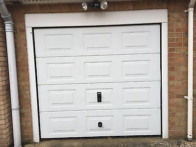 Everest Electric motor powered single insulated up and over garage door
