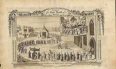 1776. suffering & death in the reign of mary 1st . procession cambridge church