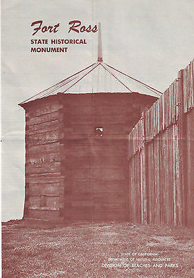 Fort Ross State Historical Monument Visitors Guide 1955 Usa Collectors Item