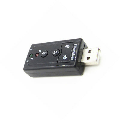 Mini USB 2.0 7.1 Channel Hudio Sound Card Sound Hdapter For PC Laptop NEW AU