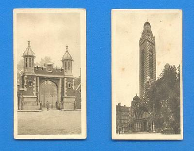 VIEWS OF LONDON.2 CIGARETTE CARDS ISSUED BY HILL CIGARETTES IN 1925.Nos.9 & 10