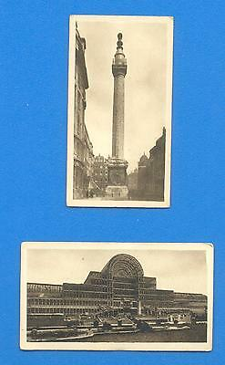 VIEWS OF LONDON.2 CIGARETTE CARDS ISSUED BY HILL CIGARETTES IN 1925.Nos.6 & 7