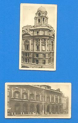 VIEWS OF LONDON.2 CIGARETTE CARDS ISSUED BY HILL CIGARETTES IN 1925.Nos.1 & 4