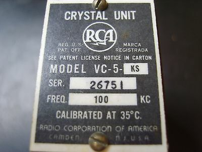 100 Khz Reference Crystal For Amateur Radio Transmitter And Receiver Oscillators