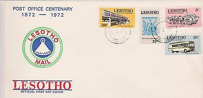 Lesotho 1972 First Day Cover Post Office Centenary FDC