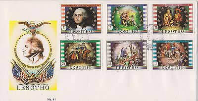 Lesotho 1982 First Day Cover 250th Anniversary of George Washington Birth FDC