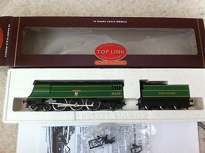"""Hornby R265 Sr 4-6-2 Locomotive """" Biddeford"""" West Country Class Made In England"""