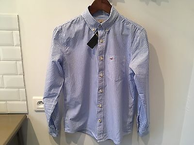 Chemise Hollister rayures bleues homme - Taille XS coupe Muscle Fit