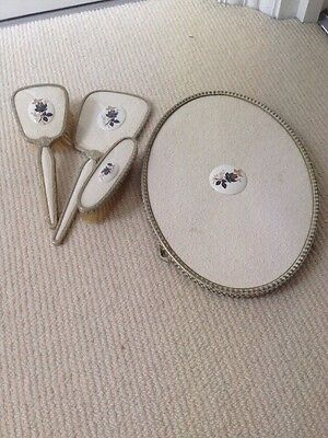 vintage brush and mirror set