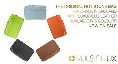 50% OFF  VULSINI LUX - LEATHER Hot Stone Bag - Handmade in England
