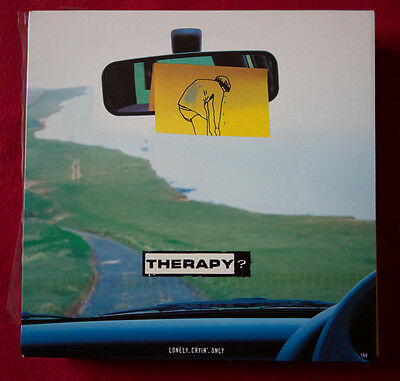 """THERAPY? 7"""" BLUE ldt vinyl UK Lonely, Cryin', Only Blur OASIS Indie Rock"""
