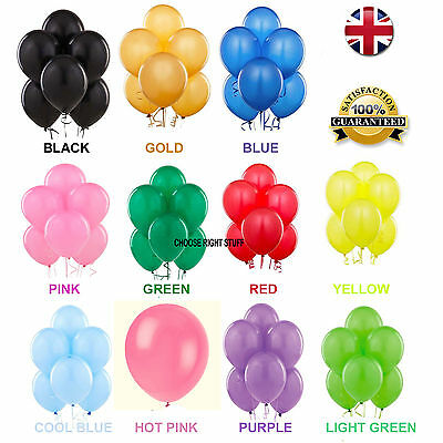 25-100 Latex PLAIN BALONS BALOONS helium BALLOONS Quality Party Decorations NEW
