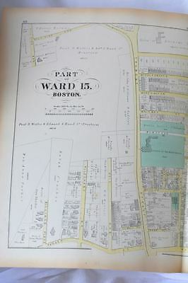 Boston,MA, Original Ward Map 1874,Antique Street Map,Longwood Ave,Tremont