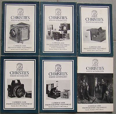 Christies Cameras & Photographic Equipment Catalogues For 1985