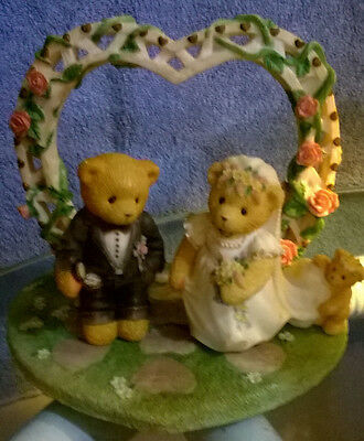 """Cherished Teddies """"Our Cherished Wedding"""" by Enesco Collector's Set of 3~ 510254"""