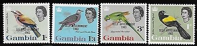 Gambia 1963 Birds Self government Overprinted MNH A676