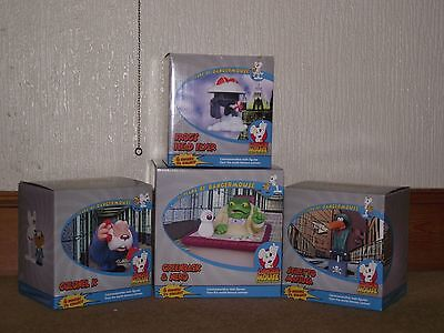 25 Years of Danger Mouse Statues. Set of Four