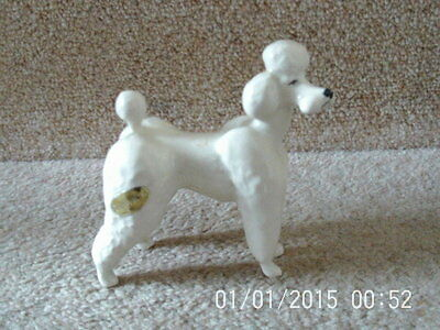 LOVELY RARE WHITE BESWICK POODLE-MODEL NO 1386 Perfect