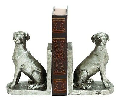 Cole & Grey Dog Polystone Bookends Set of 2