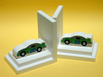 One World Stock Car Book Ends Set of 2