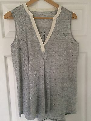 Gap Maternity Linen Vest Sleeveless Vest Top Size M