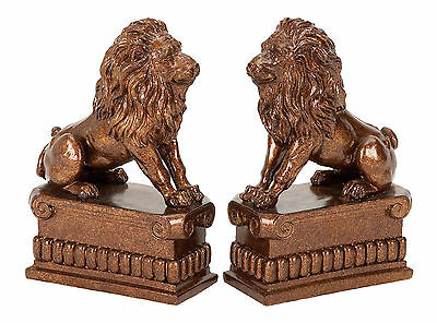 Woodland Imports Lion Book End Set of 2