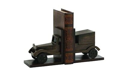 Cole & Grey Wood Car Book Ends Set of 2