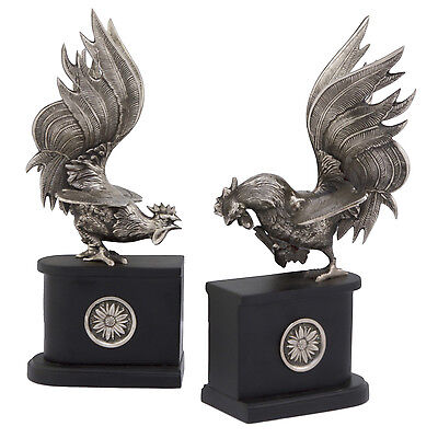 Modern Day Accents Rooster Book Ends Set of 2