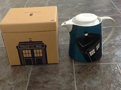 Dr Doctor Who Gift Novelty - Kitchen - Blue Tardis Teapot - Rrp £45 - Xmas