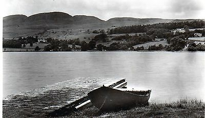 The Hills of Menteith from Inchmahome Priory Lake of Menteith real photo 1951