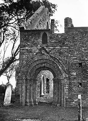 Whithorn Priory Doorway Wigtownshire Real photo postcard Ministry Works 1969