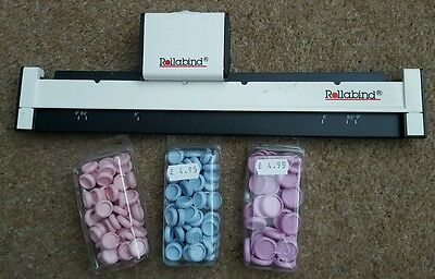 Rollabind System -, book making tool and discs