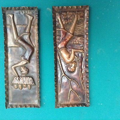 Africa antique copper plate Mwenge