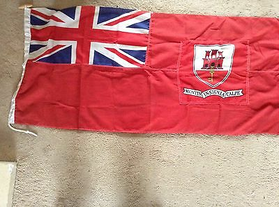 Gibraltar Red Ensign, Defaced Ensign, New Old Stock,Admiralty Chart