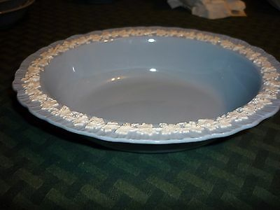 Vintage Wedgewood Queen's Ware  blue shell edge  Serving Bowl Oval