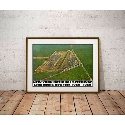 New York National Speedway Tribute Poster - Long Island Drag Strip 1966 - 1980